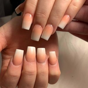 square ombre acrylic nail extensions